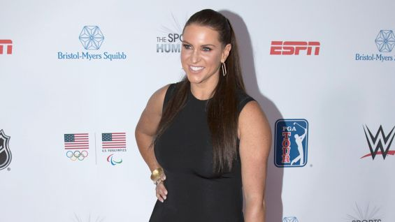 Stephanie McMahon walks the red carpet at the 2017 Sports Humanitarian of the Year Awards in Los Angeles.