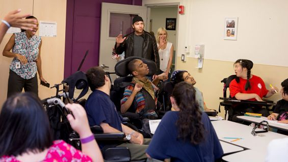 Dean Ambrose and Renee Young visit St  Mary's Healthcare