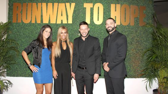 Bayley, Carmella, Finn Bálor and Tye Dillinger of NXT attended Runway to Hope in Orlando, Florida, on May 21.
