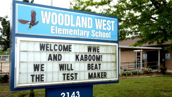 WWE and KaBOOM! are ready to build a playground at Woodland West Elementary School in New Orleans.