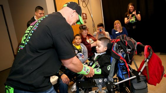 Before Raw, Cena meets Amir backstage.