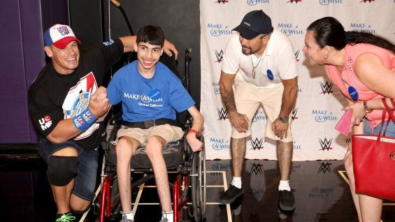 John Cena meets Juan, 17, from Make-A-Wish in Phoenix.