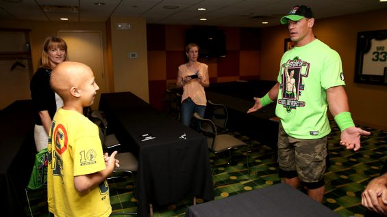 John Cena says hello to William at Boston's TD Garden.
