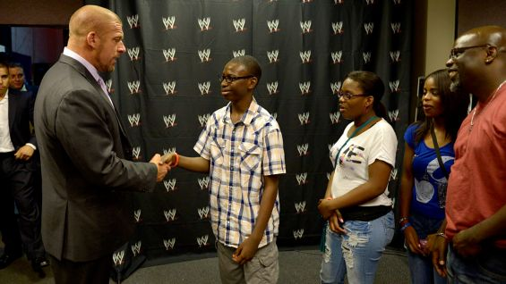 Triple H meets Troy before Raw in Hartford, Conn.