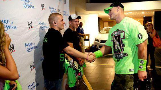WWE World Heavyweight Champion John Cena meets Nate before WWE Battleground in Tampa.