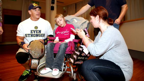 Cena also meets another youngster from Make-A-Wish when WWE's European tour comes to Vienna.