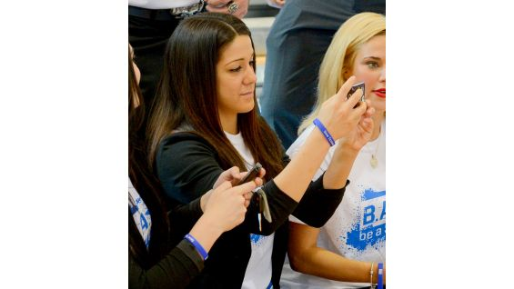 NXT Diva Bayley attends her first Be a STAR anti-bullying rally.
