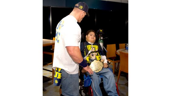Cena also meets Circle of Champions honoree Anthony, 18.
