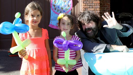 WWE Hall of Famer Mick Foley joins the Westport, Conn., YMCA for its 90th birthday celebration.