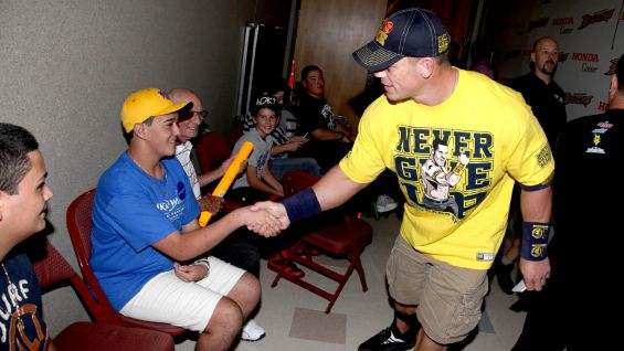 The Make-A-Wish kids also meet John Cena!