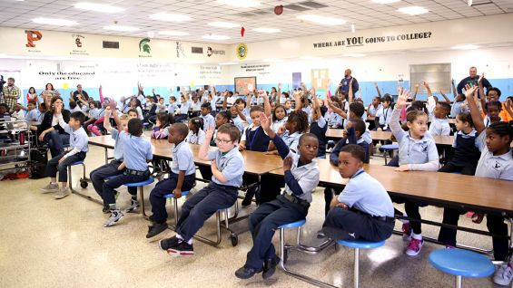 Approximately 140 Woodland West Elementary School second-graders attend the event.