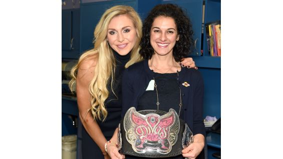 Divas Champion Charlotte meets representatives from CHP, The V Foundation and Connor's Cure.
