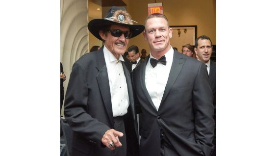 Cena with NASCAR Hall of Famer Richard Petty, the most decorated driver in the history of NASCAR.