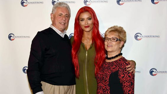 Eva Marie attends SoldierStrong's Annual Awards Gala with her parents.