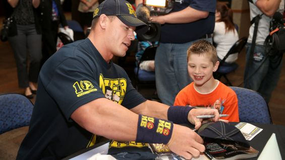 John Cena and other Superstars grant wishes to Logan ...