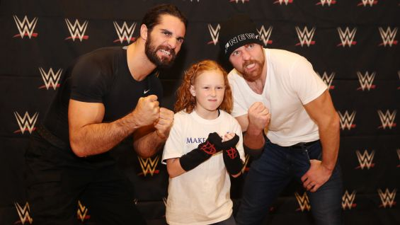 Seth rollins dean ambrose grant wishes before survivor series 2017 seth rollins dean ambrose grant wishes before survivor series 2017 photos m4hsunfo