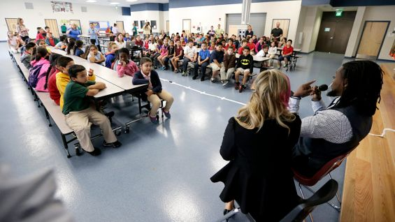 More than 145 third-graders attend the Reading Celebration.