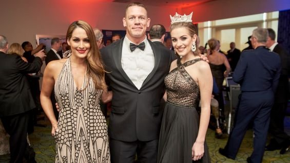 Nikki and Cena meet Miss America 2016 Betty Cantrell.