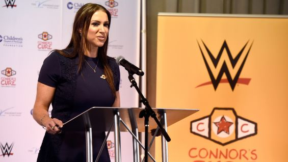 McMahon discusses WWE's commitment to raising awareness and funds in the fight against pediatric cancer.