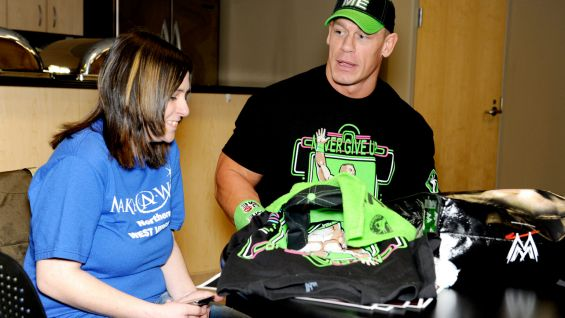 The Make-A-Wish teen meets Cena before Raw in Cleveland.