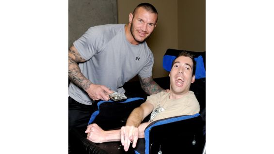 The Viper meets Nicholas before SmackDown at Ottawa's Canadian Tire Centre.