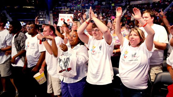 Special Olympics Georgia athletes cheer on their favorite Superstars and Divas at SmackDown in Atlanta.