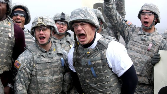 John Cena joins U.S. Troops at Joint Base Lewis-McChord in Washington.