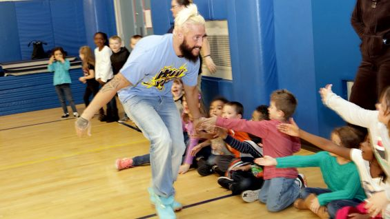 Enzo Amore is excited to meet the young fans at Naval Station Mayport.