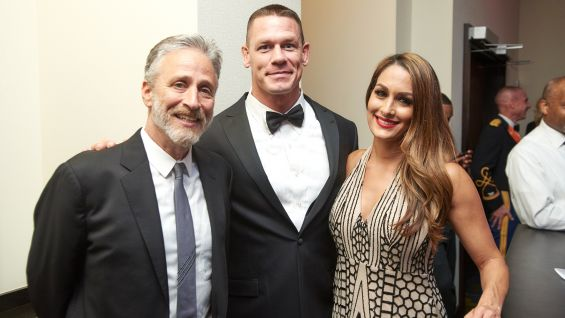 Jon Stewart, friend of WWE and host of the USO-Metro Annual Awards Dinner.
