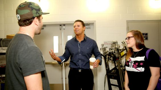 "The Miz says hello during their ""Awesome"" backstage tour."