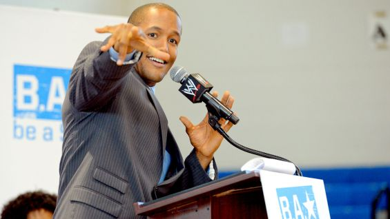 NXT announcer Byron Saxton is the host of the event.