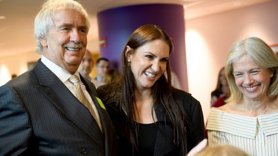 Stephanie McMahon & Paul Levesque cut ribbon for new therapy