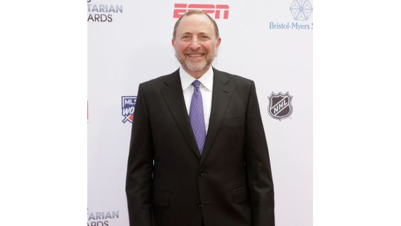 NHL Commissioner Gary Bettman on the red carpet.