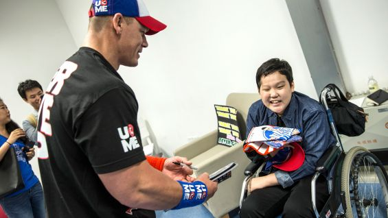 John cena grants wwes first wish in china photos wwe community 1 2 3 m4hsunfo