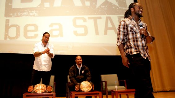The Be a STAR rally is one of several events going on during WWE's three-day Saudi Arabia tour.