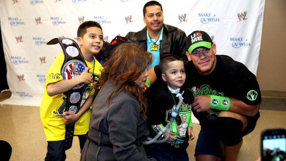Cena has granted more than 400 wishes and counting with Make-A-Wish!