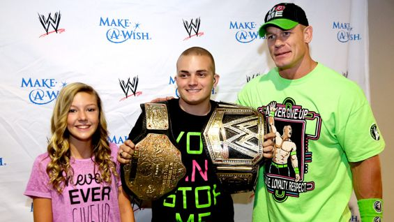 Cena lets Nate hold onto his championships.