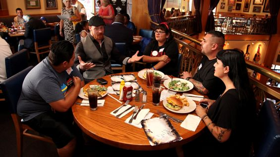 WWE's Make-A-Wish party is hosted by Hard Rock Cafe at Universal Studios' City Walk in Culver City, Calif.