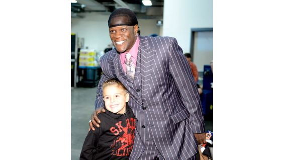Michael meets R-Truth backstage before Raw in Pittsburgh.