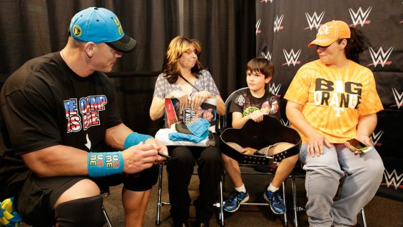 Circle of champions john cena meets teresa in columbus ohio the meet and greet takes place before wwe money in the bank 2015 m4hsunfo