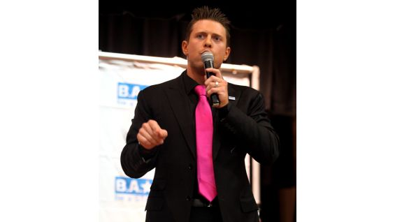 WWE Superstar The Miz encourages the students to start a Be a STAR chapter.