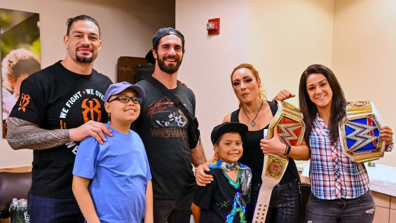 WWE Superstars & Roman Reigns visit The Children's Hospital at Montefiore