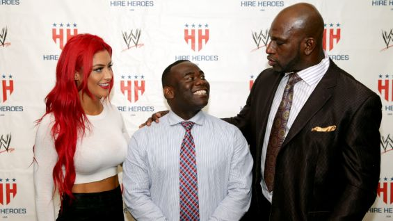 Eva Marie and Titus O'Neil host a Hire Heroes USA Career Workshop in Washington, D.C.