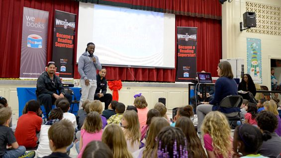 Kofi Kingston discusses the importance of reading at Fort Benning.