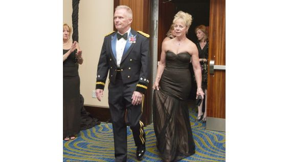 "U.S. Army General Raymond ""Tony"" Thomas of Special Operations Command and his wife, Barbara."