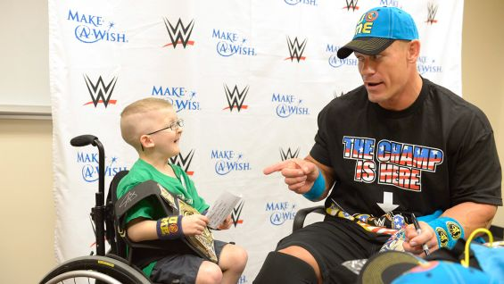 Cena has granted more than 450 wishes and counting with Make-A-Wish!