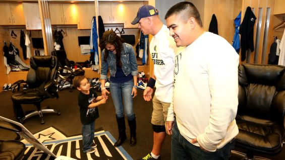Jesus and his family meet Cena before Raw in Dallas.