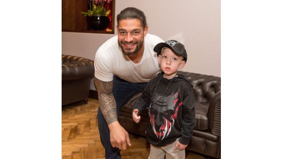 The Big Dog welcomes Nixon, 3, from Make-A-Wish to Raw in London.
