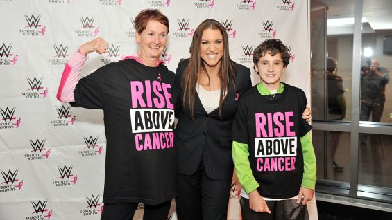 """WWE is exceptionally proud to continue our partnership with Susan G. Komen and its support of breast cancer research and awareness,"" McMahon says."