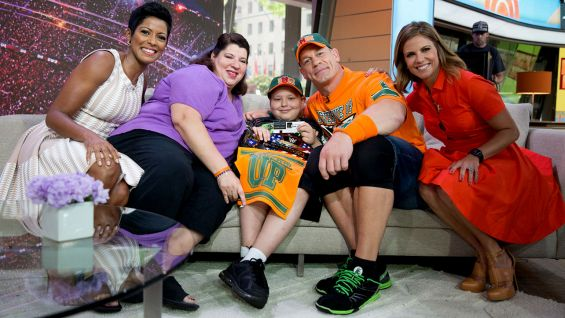 "John Cena surprises Rocco Lanzer on NBC's ""Today."" Rocco is the 500th honoree Cena has granted a wish to through Make-A-Wish."
